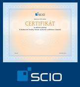 Certifikát společnosti Scio