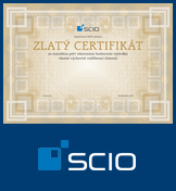 Zlatý certifikát společnosti Scio.